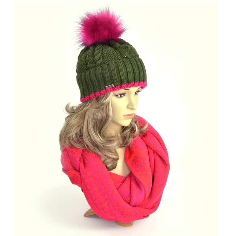 czapka-zimowa-zielona-amarant