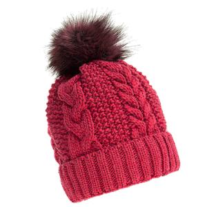 czapka-welniana-rozowa-z-pomponem