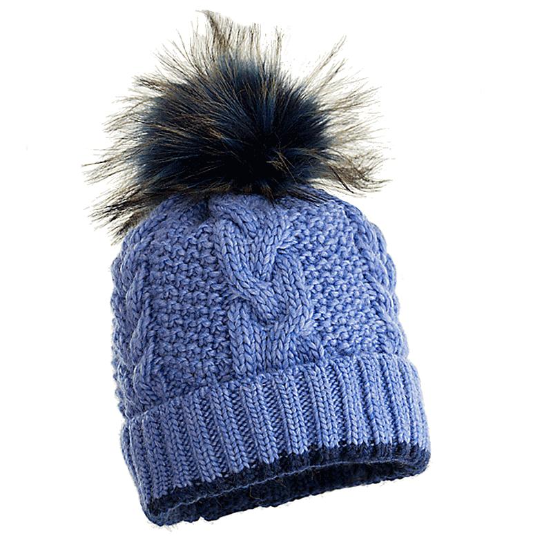 czapka-welniana-z-pomponem-niebieska