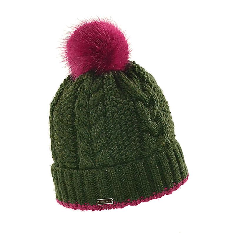 czapka-welniana-z-pomponem-zielona