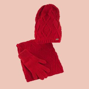 czapka-bez-pompona-komin-rekawiczki-czerwony