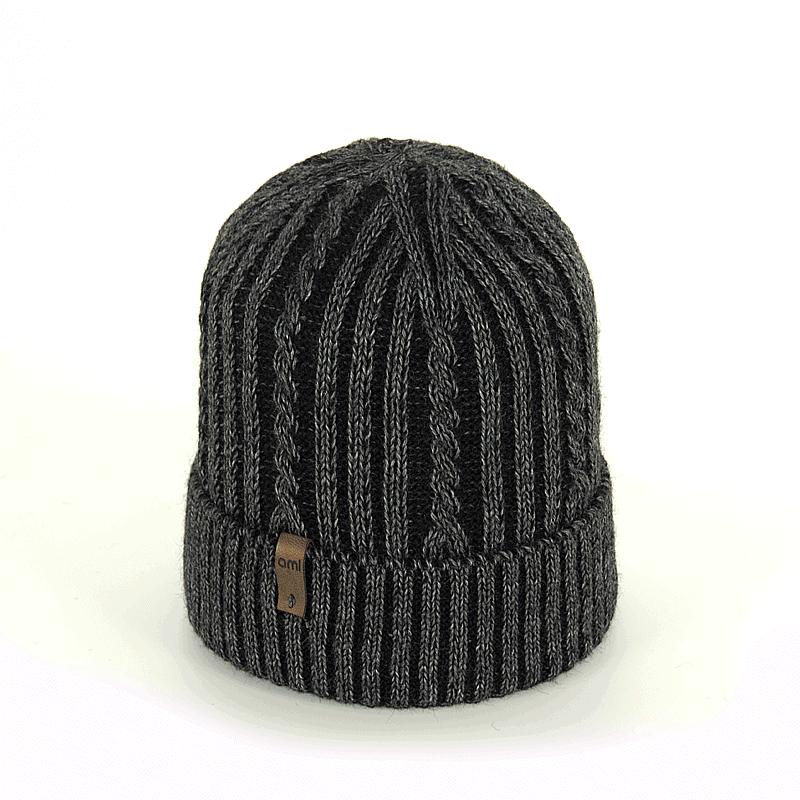 czapka-meska-antracyt-czarna-warkoczyk