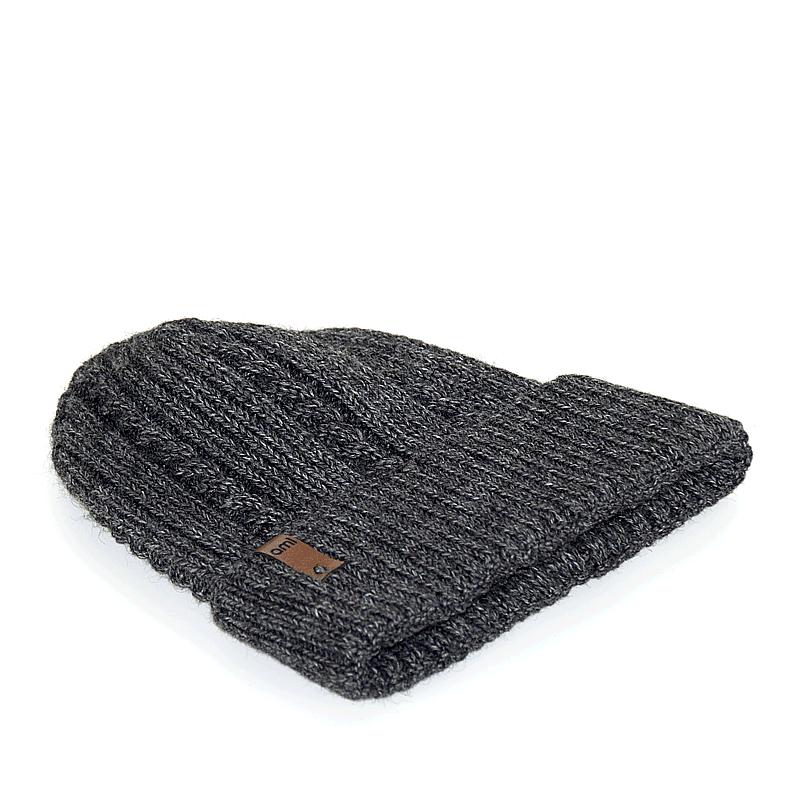 czapka-meska-antracyt-warkoczyk-poziomo