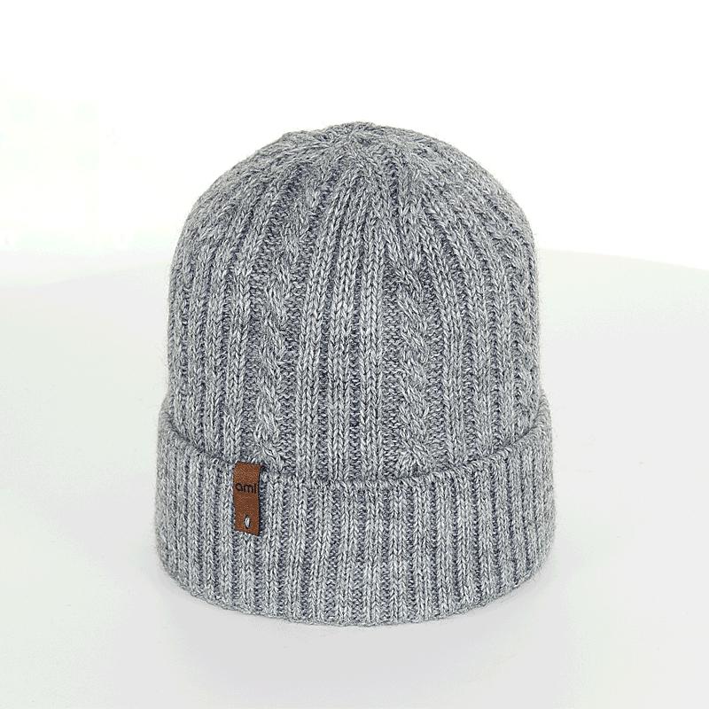 czapka-meska-szara-warkoczyk