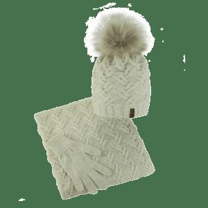 czapka-welniana-komin-rekawiczki-ecru